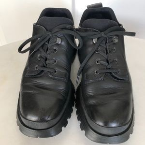 Men's Black Prada Lace Up Angle Boot